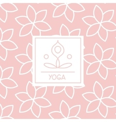 Abstract Figure Pink Yoga Studio Design Card vector