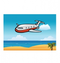 airplane sky vector image