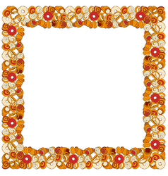 Bakery hand drawn square template vector