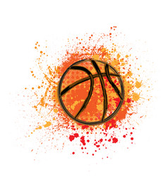 basketball grunge background vector image