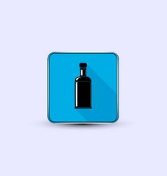 Black bottle icon vector