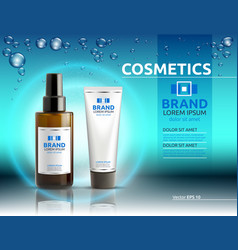 Body serum and cream cosmetic ads template vector