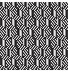 bold cube pattern background black white vector image