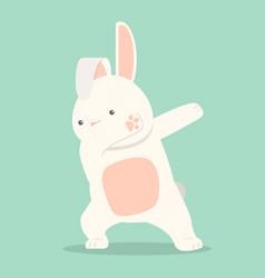 Bunny funny dabbing movement vector