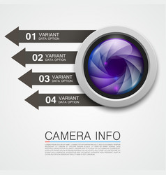 Camera info banner art creative vector