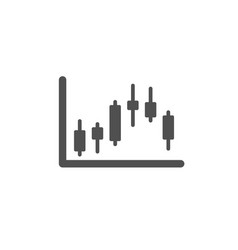 Candlestick chart icon financial graph vector