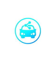 carsharing service icon car and share sign vector image