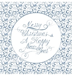 Christmas calligraphy on a patten background vector