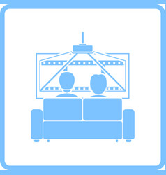 Cinema sofa icon vector