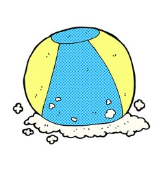 Comic cartoon beach ball vector