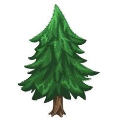 Coniferous pine tree Christmas symbol vector