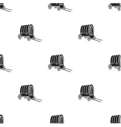 cowboy wagon icon in black style isolated on white vector image