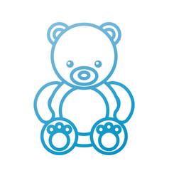 Cute teddy bear sitting toy furry adorable vector
