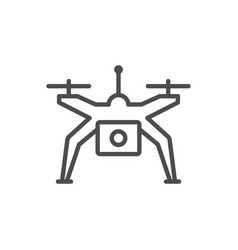 Drone or quadcopter line outline icon vector