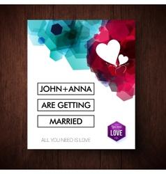 Elegant eye-catching wedding invitation design vector image