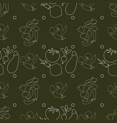 farm product seamless pattern vegetables vector image