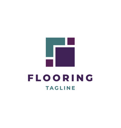 flooring logo design vector image