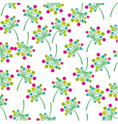 flowers and leaves garden background decoration vector image