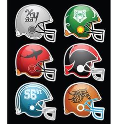 Football helmets vector