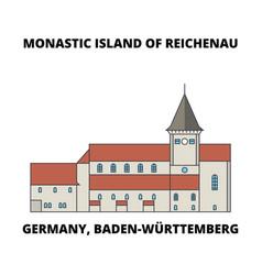 germany baden-wurttemberg monastic island of vector image