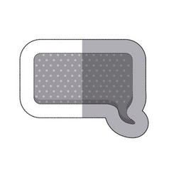 Gray squard chat bubble icon vector