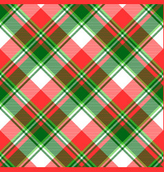 Green bright madras plaid seamless fabric texture vector
