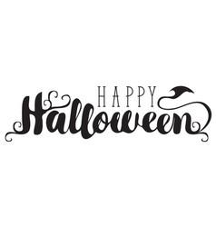 halloween calligraphic inscription vector image
