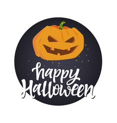 happy halloween poster - modern colorful vector image