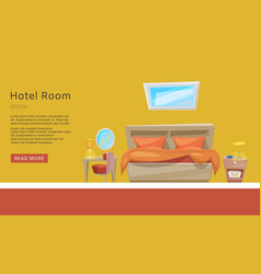 Hotel room reservation apartment booking vector
