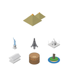 isometric attraction set of athens new york vector image