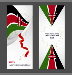 Kenya happy independence day confetti celebration vector