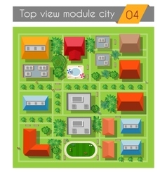 Landscape city top view vector