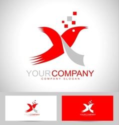 Letter X logo design vector image