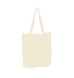 Linen shopping bag sketch for your design vector