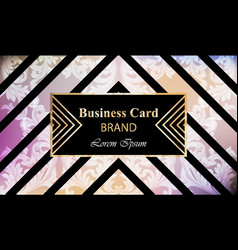 Luxury brand card with rich ornament vector