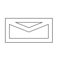 Mail black color path icon vector
