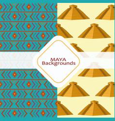 maya culture background vector image