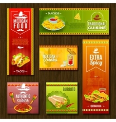 Mexican Food Banner Set vector