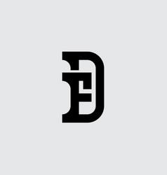minimalistic monogram premium business logotype vector image