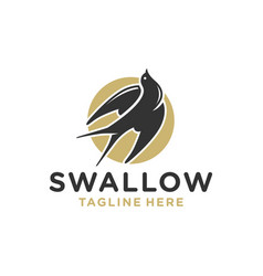 modern swallows nest logo vector image