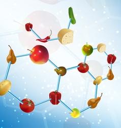molecular gastronomy vector image