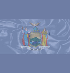 new york state silk flag vector image