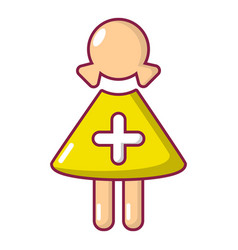 nurse icon cartoon style vector image