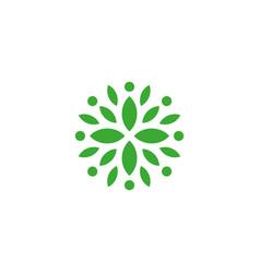 organic green isolated logo leaves logo vector image
