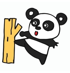 Panda cartoon for t-shirt design vector