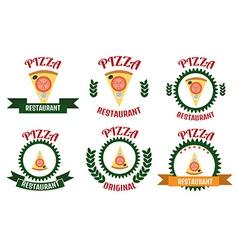 Pizza logo set vector image