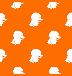 Poodle dog pattern seamless vector