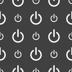 Power icon sign Seamless pattern on a gray vector image