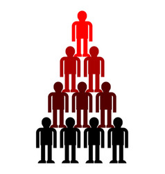 pyramid company structure leader subordination vector image