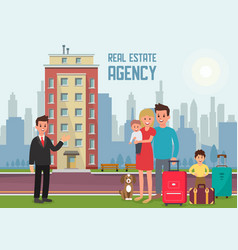 Real estate agency flat vector